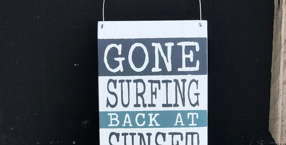 GONE SURFING NAUTICAL SIGN