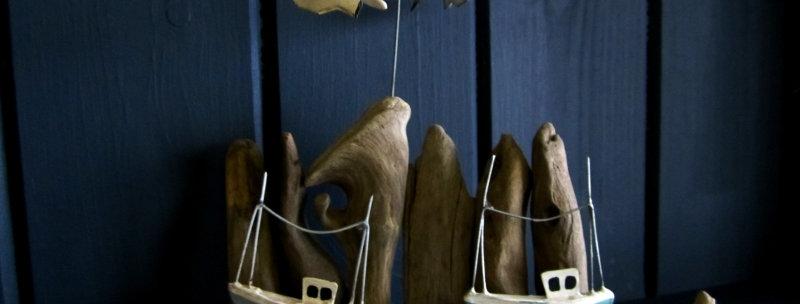 KINETIC SEAGULLS BOAT SCENE