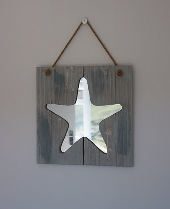 WOODEN STARFISH MIRROR