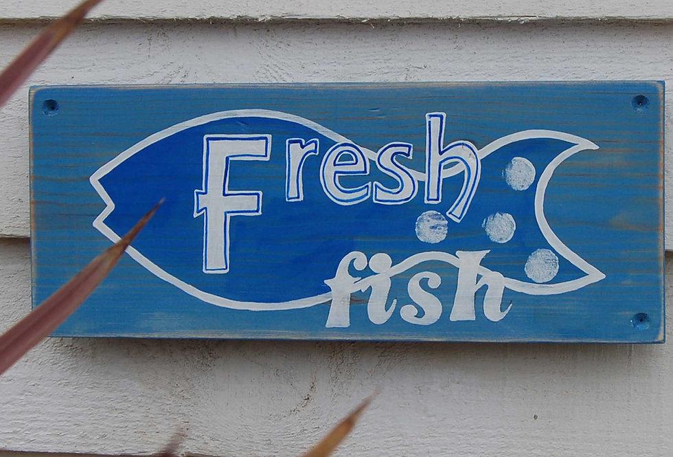 FRESH FISH HANDMADE WOODEN SIGN