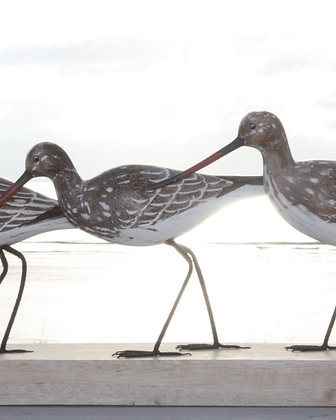 HAND CARVED GODWITS SCULPTURE