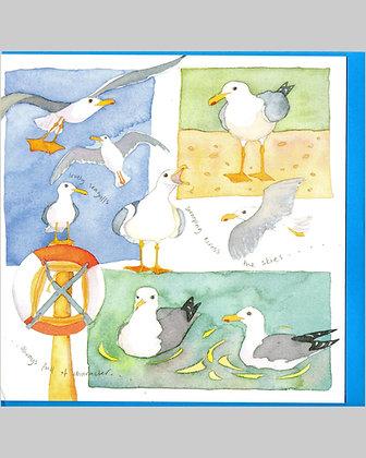 SEAGULLS CARD BY EMMA BALL