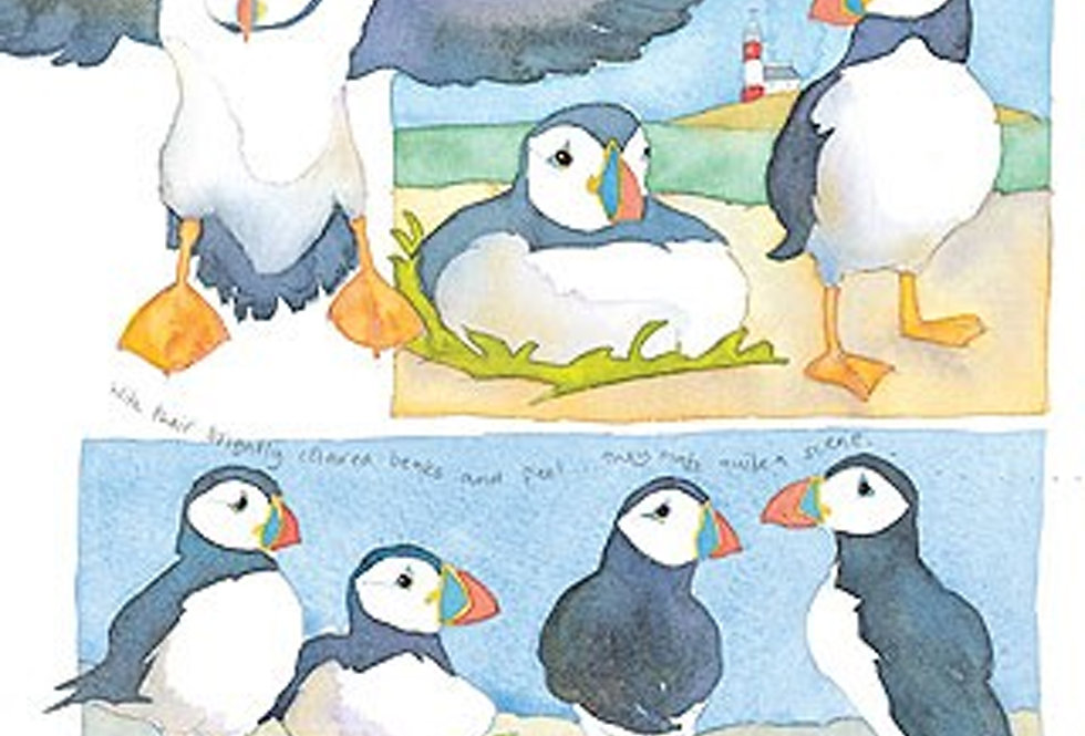 PUFFINS CARD BY EMMA BALL
