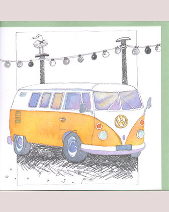 CAMPER AND LIGHTS CARD BY EMMA BALL