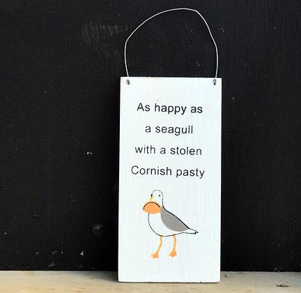 STOLEN CORNISH PASTY SIGN