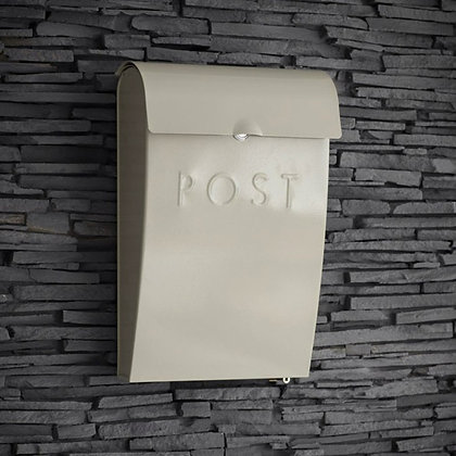CLAY POST BOX WITH LOCK