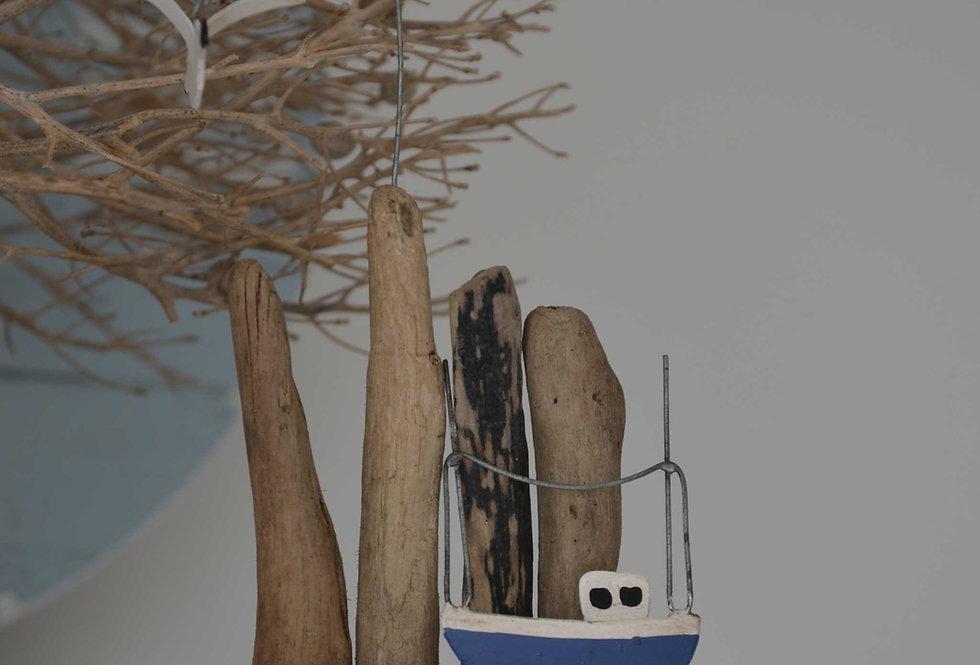 DRIFTWOOD FISHING BOAT SCENE
