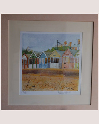 EMMA BALL SOUTHWOLD LIMITED EDITION FRAMED PRINT