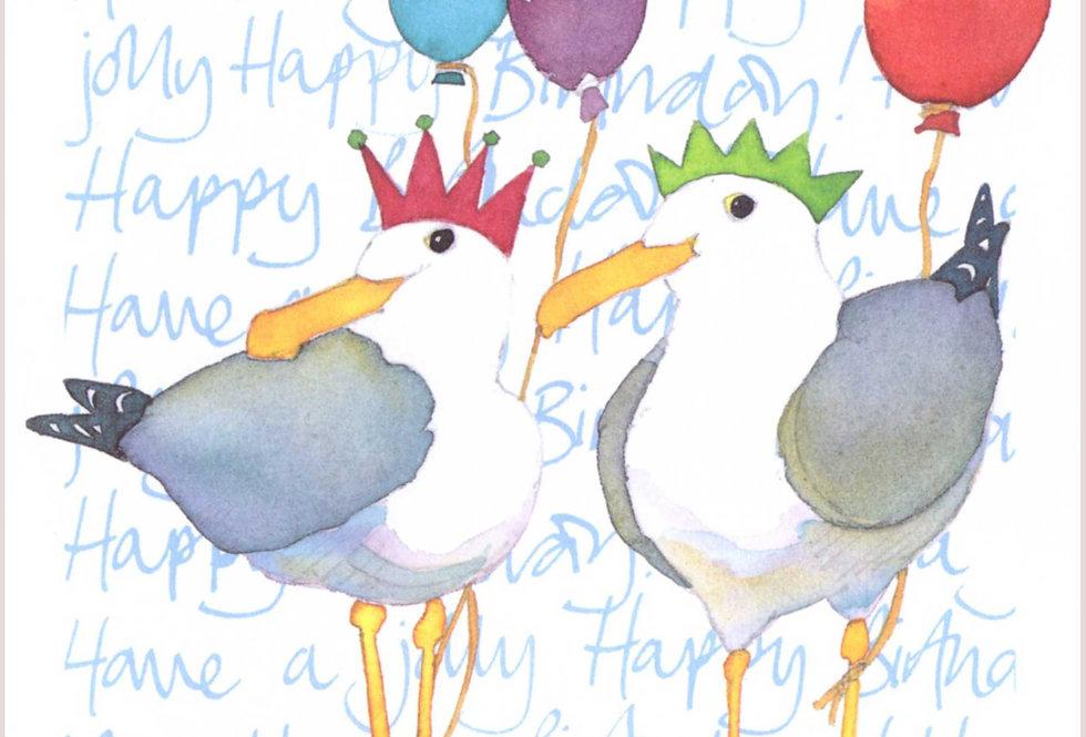 JOLLY HAPPY BIRTHDAY SEAGULL CARD BY EMMA BALL