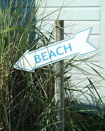 DOUBLE SIDED BEACH ARROW SIGN