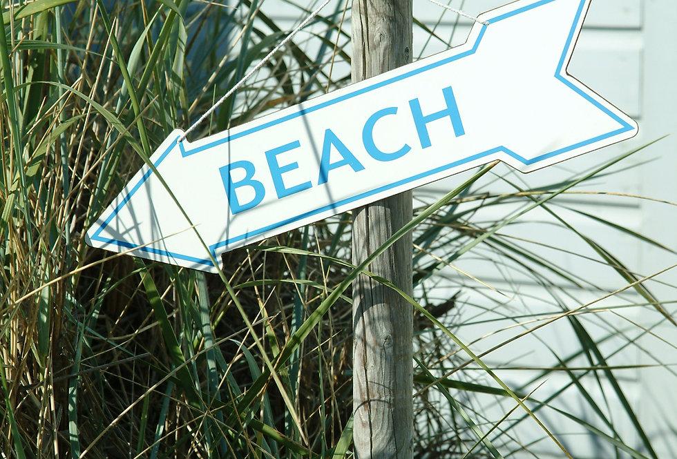 DOUBLE SIDED BEACH ARROW SIGN