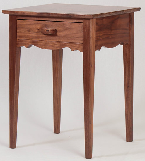 Black Walnut Side Table with Drawer