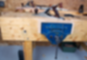 Handmade furniture shop work bench