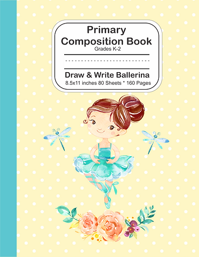 Draw and write notebook cute ballerina