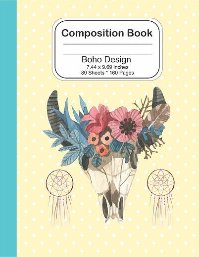Boho notebook for girls