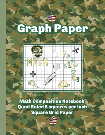 Camo Graph paper notebook