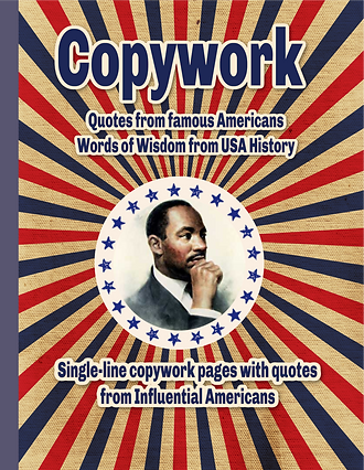 Copywork Book famous American's