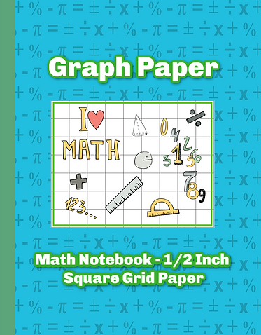 I love Math Graph Paper Notebook