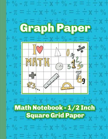 I love Math Graph Paper Notebook