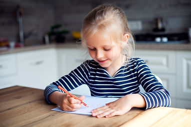 Child writing Copywork