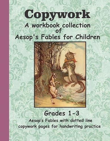 aesop fables copywork handwriting workbook