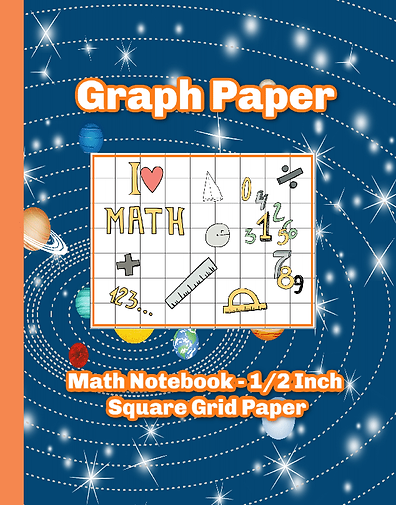 Outer Space Graph paper notebook