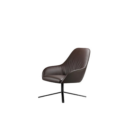 Mix -  Lounge Chair with Alum Leg