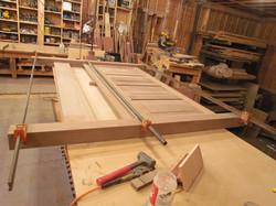 Headboard Being Assembled