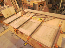 Foot Panel Being Assembled