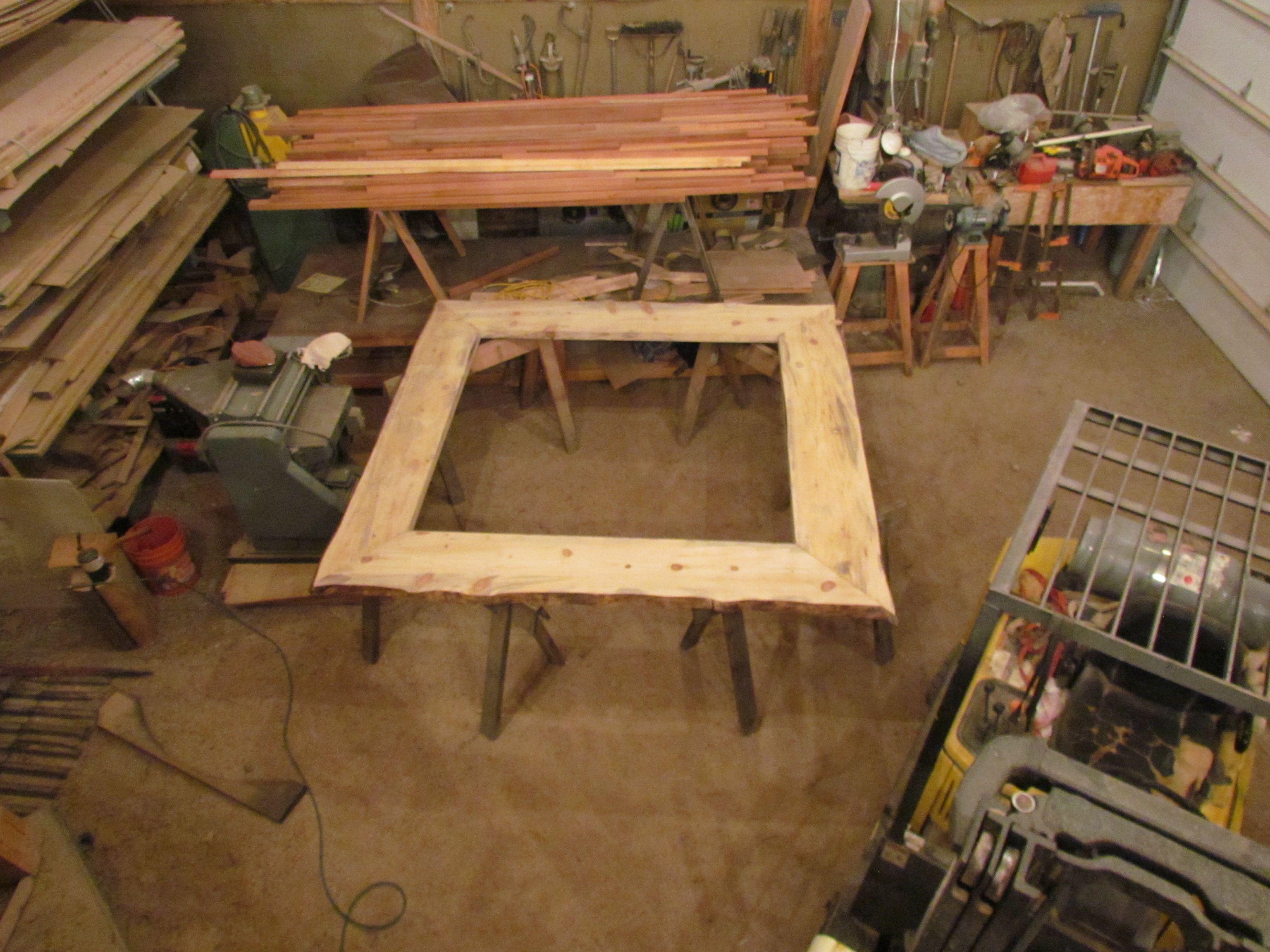 Assembled Platform Frame