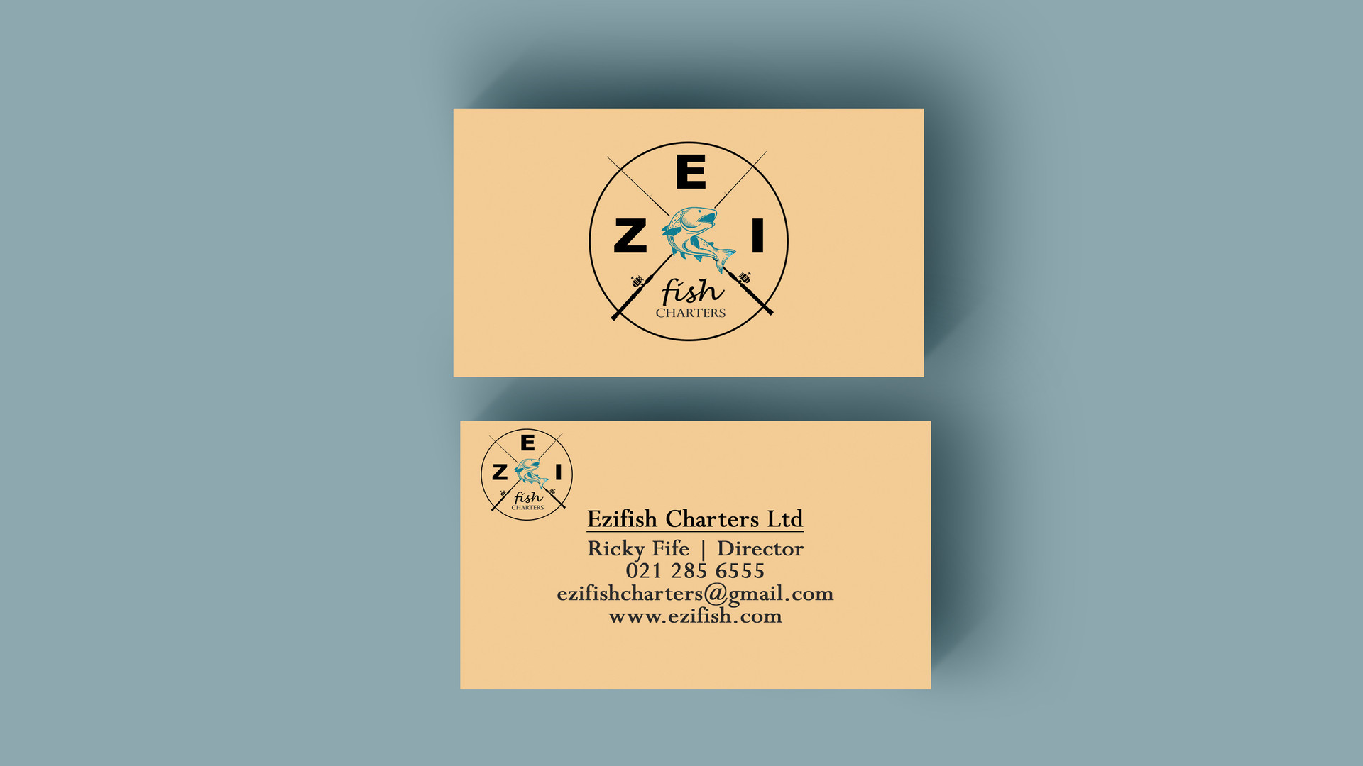 Ezifish Business Card + Custom logo
