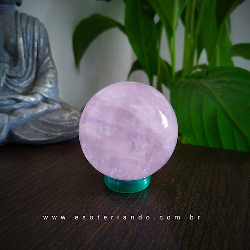 Esfera de Quartzo Rosa 90g