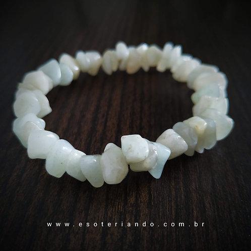Pulseira cascalho Amazonita ( a pedra da Boa Sorte)