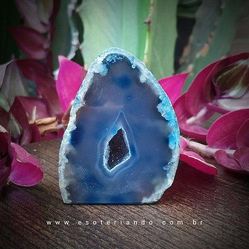 Geodo de Ágata azul 127g