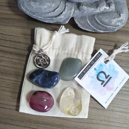 Kit signo de Libra - cristais de bolso + pingente