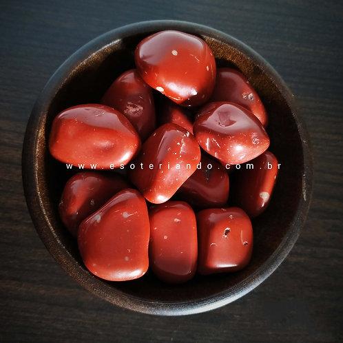 Jaspe Vermelho Rolado Grande (Vitalidade e Proteção)