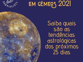 Mercúrio Retrogrado em Gêmeos 2021
