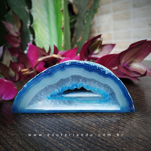 Geodo de Ágata azul 220g