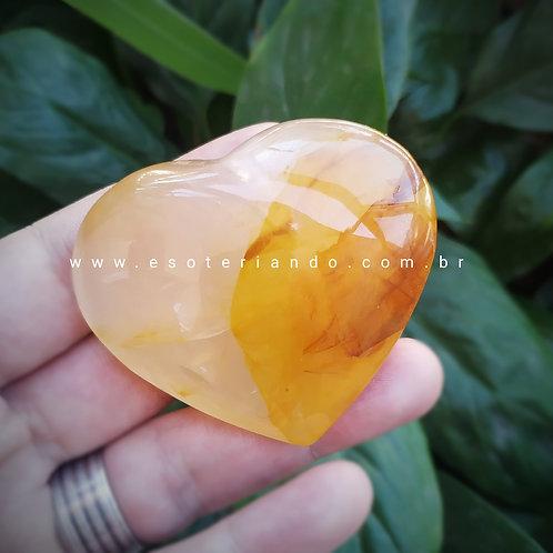 Coração P Quartzo Hematóide - Agente de cura ouro