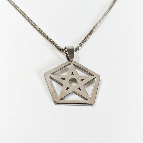 Colar Pentagrama no Pentágono