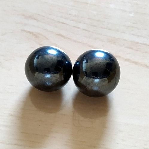 2 Esferas Hematita magnética/ Imantada - PAR