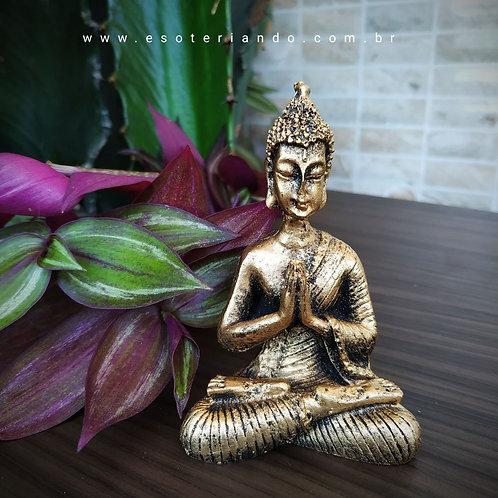 Buda Tibetano dourado envelhecido