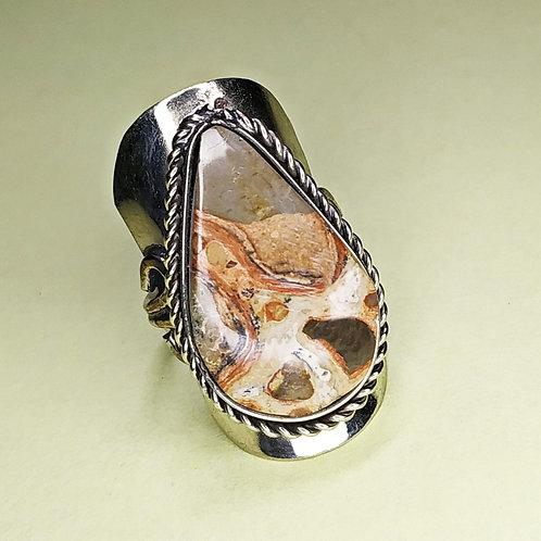 Anel Regulável Pedra Leopardita