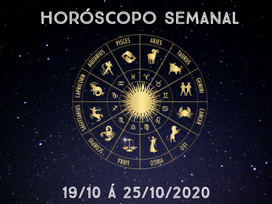 Horóscopo semanal - 19/10 á 25/10/2020