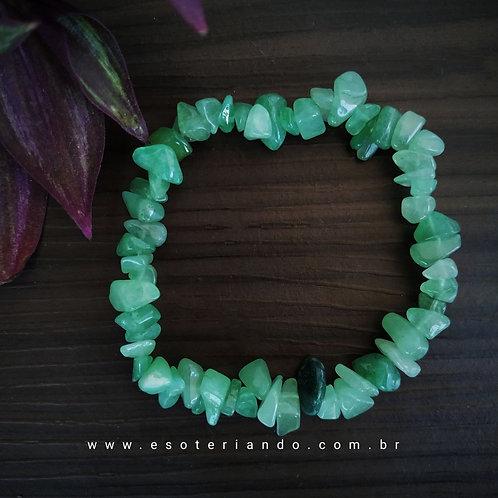 Pulseira cascalho quartzo verde