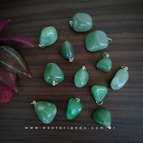 Pingente quartzo verde natural