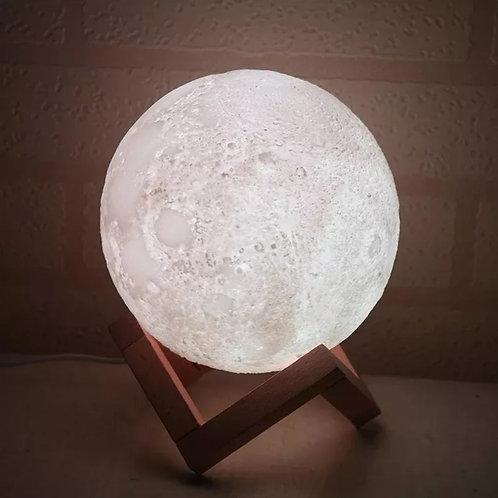 Difusor, umidificador e luminária formato lua