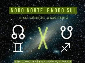 Nodo norte e nodo sul - Eixo Gêmeos x Sagitário