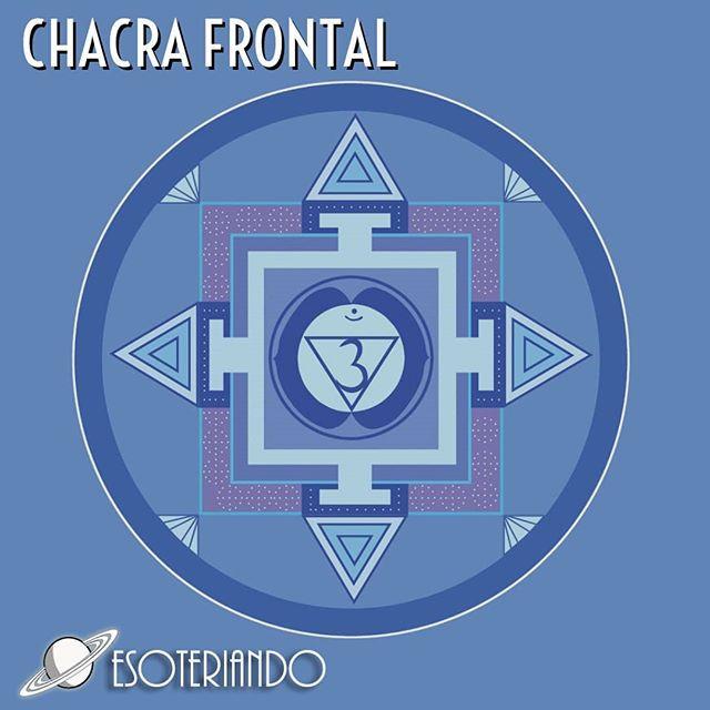 Chacra Frontal conhecido como terceiro olho ou Anja localizado na região central da testa.