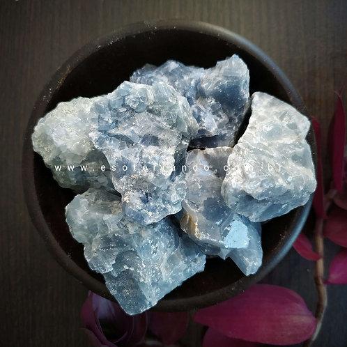 Calcita azul bruta - combate a ansiedade